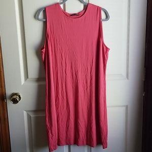 Eileen Fisher Stretchy Knit Sleeveless Dress L